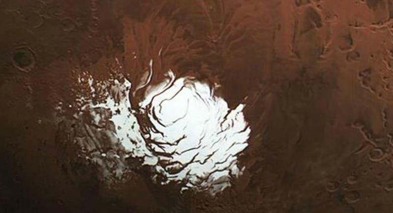 Impresionante imagen del Polo Sur de Marte