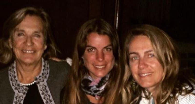 Maite Orsini junto a su madre y abuela