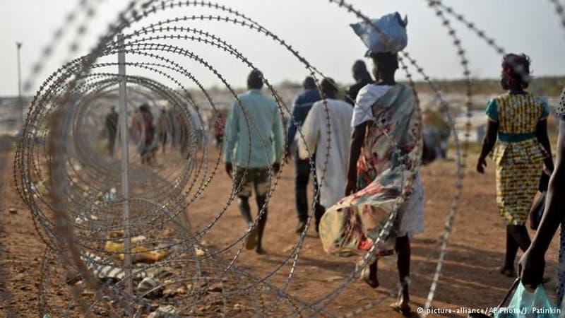 Campamento de desplazados en Juba, Sudán del Sur.