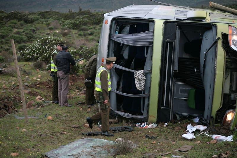 Accidente en bus