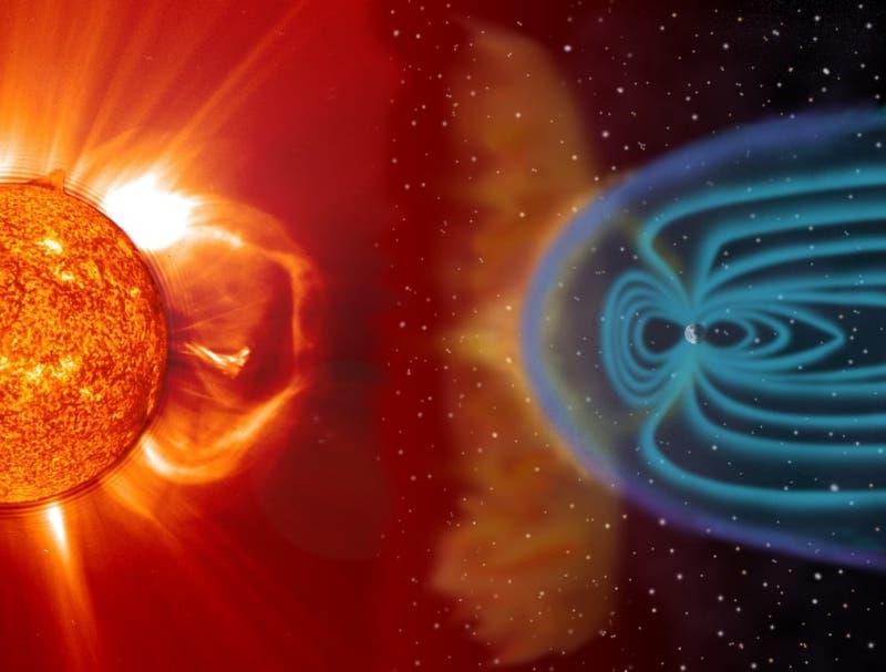 El escudo magnético de la Tierra es una defensa natural contra las partículas del espacio.