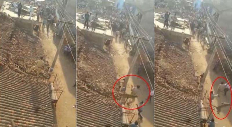 Policía salta al vacío para salvarse de feroz ataque de leopardo