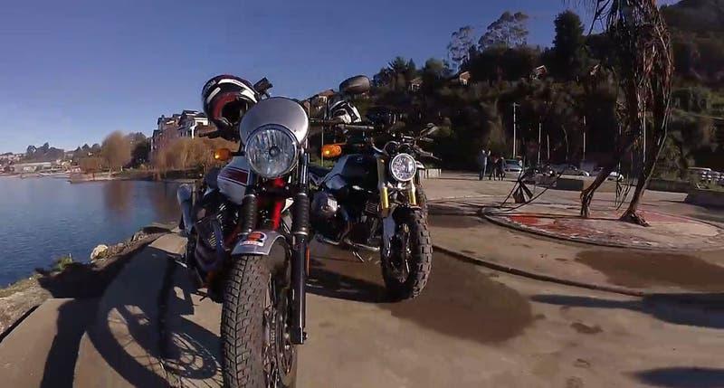[VIDEO] Jeremías Israel y tres espectaculares motos retro recorren el sur de Chile