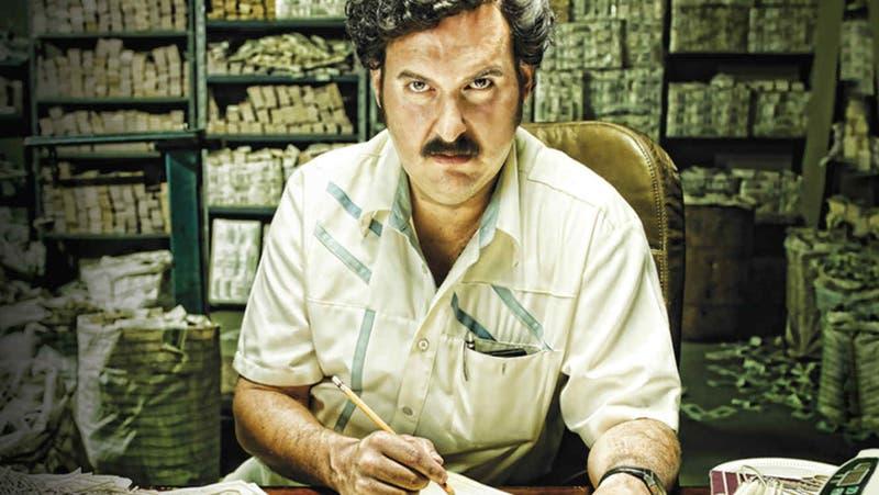 Andrés Parra con su look de Pablo Escobar