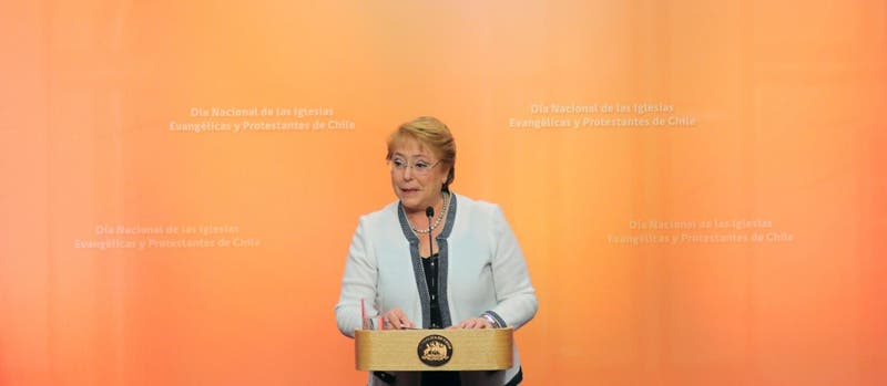 """Bachelet enfatiza """"igualdad y respeto"""" ante iglesias evangélicas"""