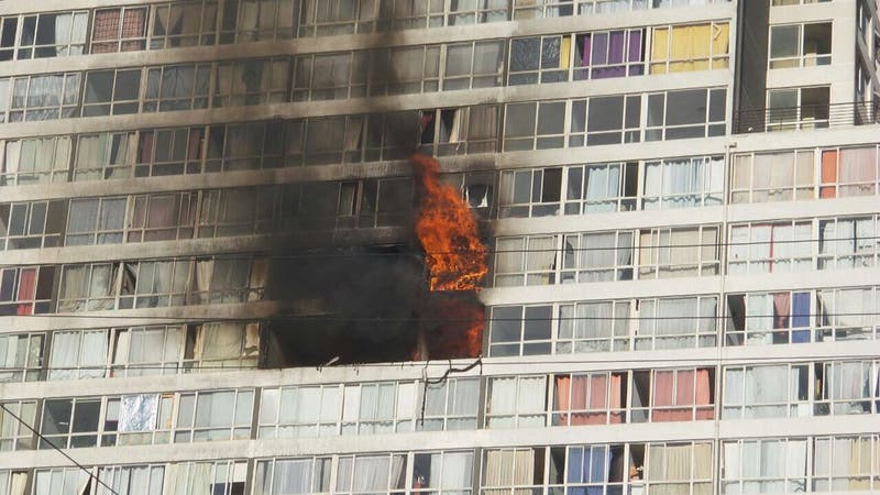 Incendio en Zenteno con Pedro Lagos