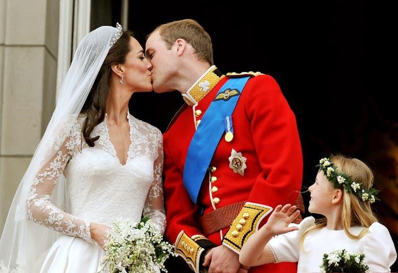 El príncipe William y Kate Middleton el día de su matrimonio, el 29 de abril de 2011