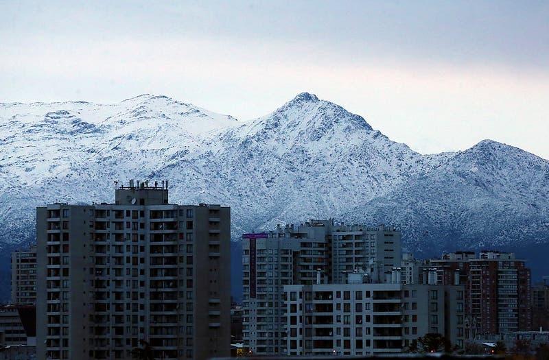 La imagen que muestra el bajo nivel de nieve en Los Andes