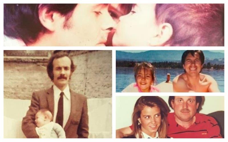 Los famosos subieron fotos con sus papás a redes sociales
