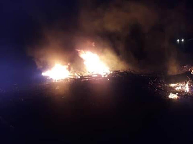 Tres cabañas incendiadas en la región del Biobío