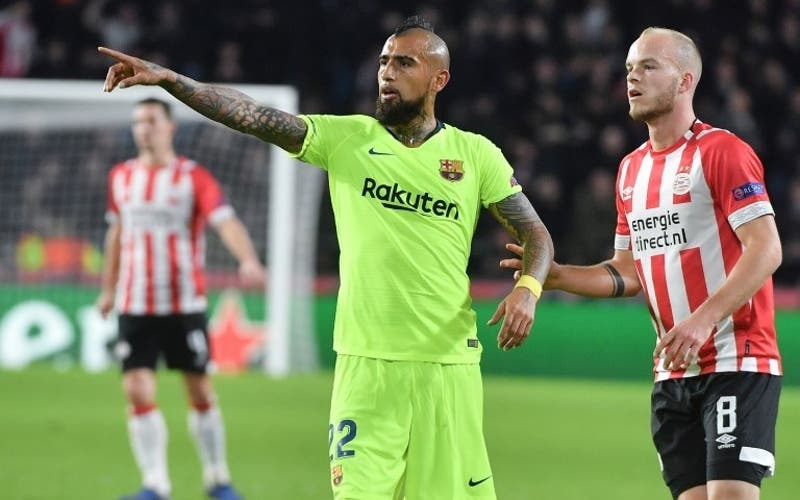 Arturo Vidal será titular en el Barcelona para enfrentar al Valencia en el Camp Nou