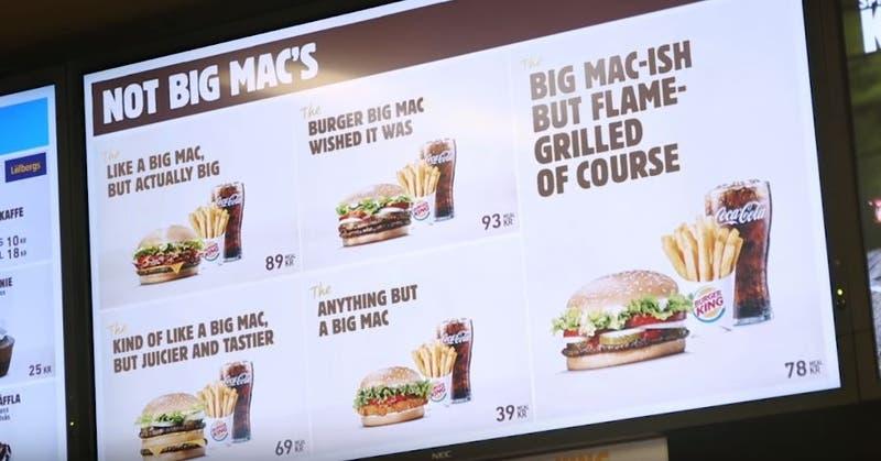 La broma de Burger King a McDonald's tras perder su marca Big Mac