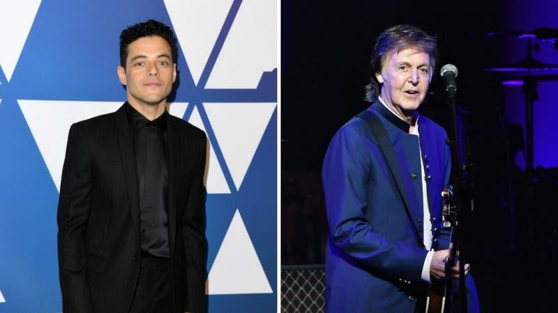 Rami Malek por fin recupera foto perdida junto a Paul McCartney