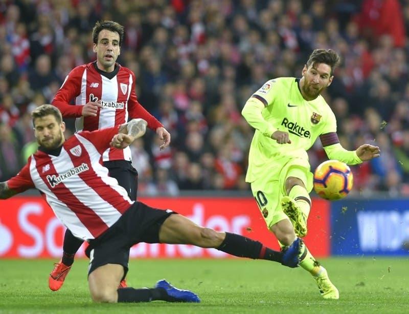 Con Arturo Vidal de titular, el Barcelona igualó sin goles ante el Athletic de Bilbao
