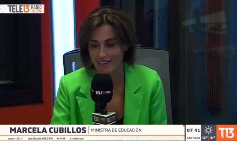 Marcela Cubillos por ley admisión justa