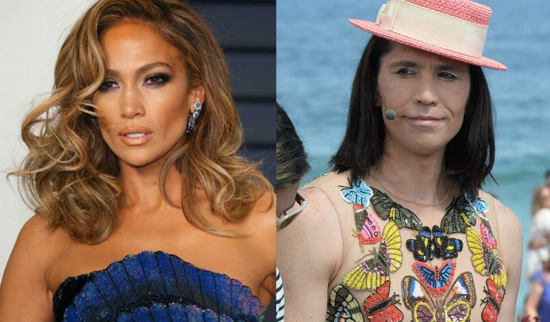 [FOTO] El excéntrico look de Jennifer Lopez que es idéntico al que Di Mondo usó en Gala de Viña