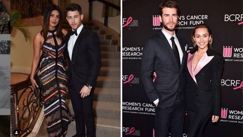 [VIDEO] ¿Priyanka Chopra y Nick Jonas en una cita doble junto a Miley Cyrus y Liam Hemsworth?