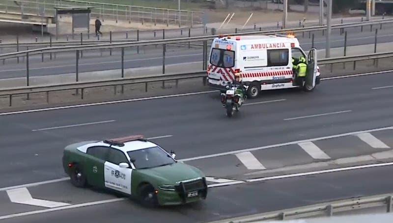 Persona murió tras ser atropellada en Ruta 5 Norte