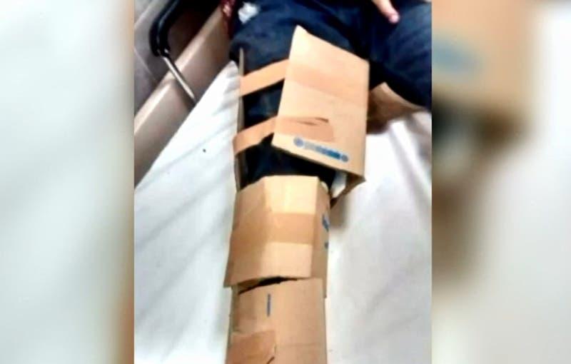 La respuesta del Hospital El Pino tras denuncia de paciente: Fue inmovilizado con cartón