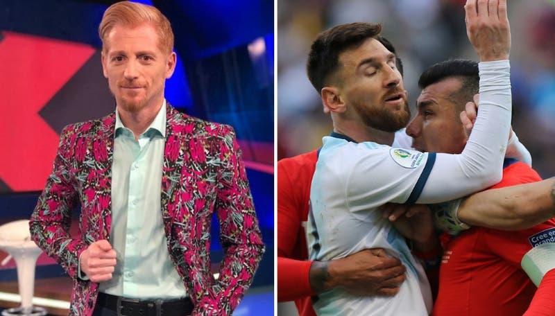 La reacción de Martín Liberman tras la pelea de Medel y Messi que terminó en expulsión de ambos