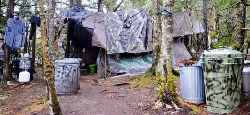 El campamento de Knight estaba en un claro cerca de North Pond.