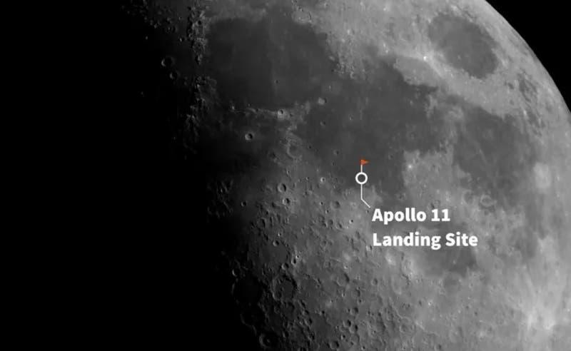 Un telescopio en la Tierra logra fotografiar el sitio del alunizaje 50 después