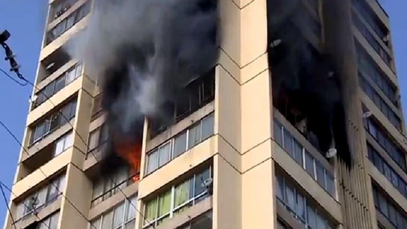 Incendio afecta a edificio del Parque Bicentenario de la Infancia