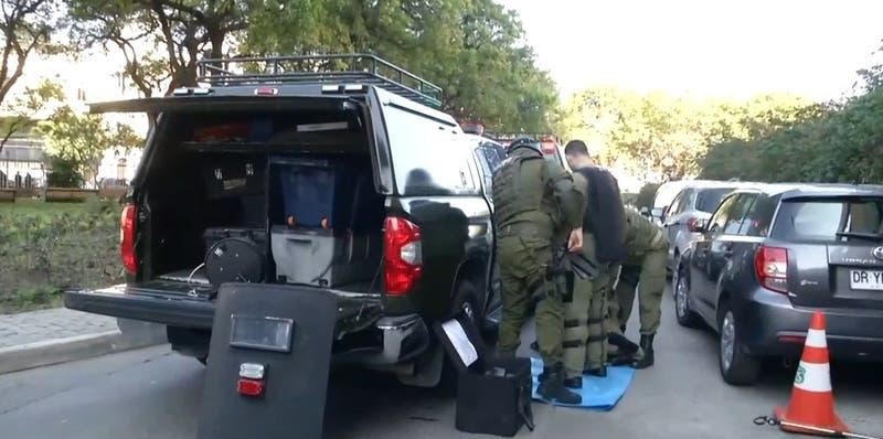 Carabineros lidera simulacro de artefacto explosivo en el Congreso