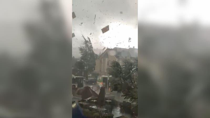 [VIDEO] Los registros del paso de un tornado  que dejó múltiples heridos en Amsterdam y Luxemburgo