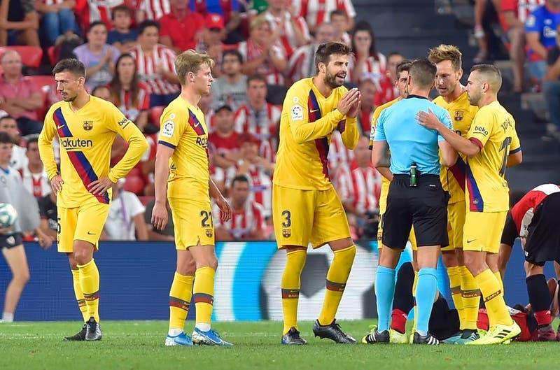 Sin Arturo Vidal el Barcelona cayó ante el Athletic de Bilbao en su debut en La Liga