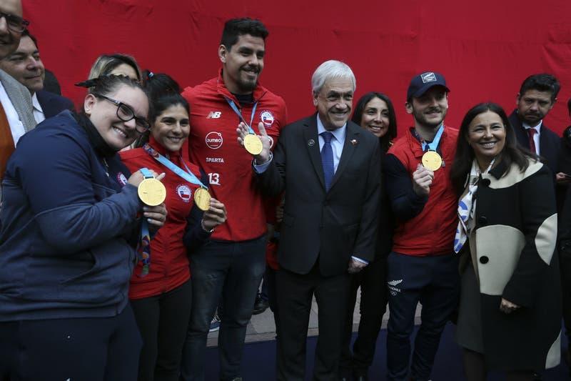 Presidente Piñera recibe al Team Chile tras histórica actuación en Juegos Panamericanos de Lima 2019