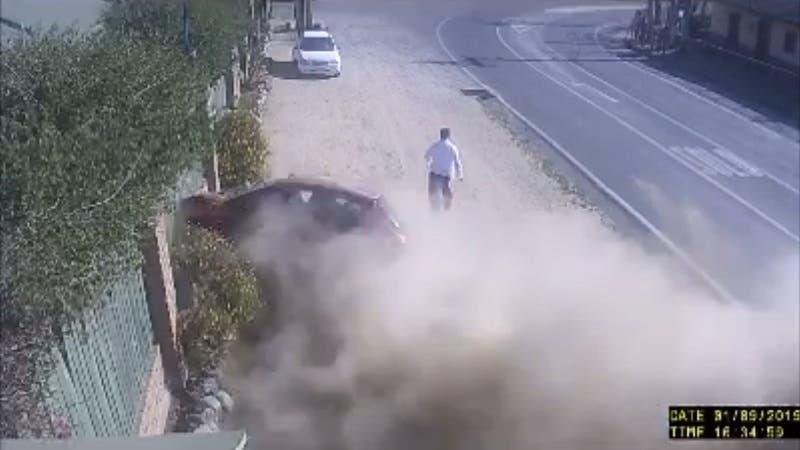 Hombre estuvo a punto de ser atropellado por un vehículo en Olmué