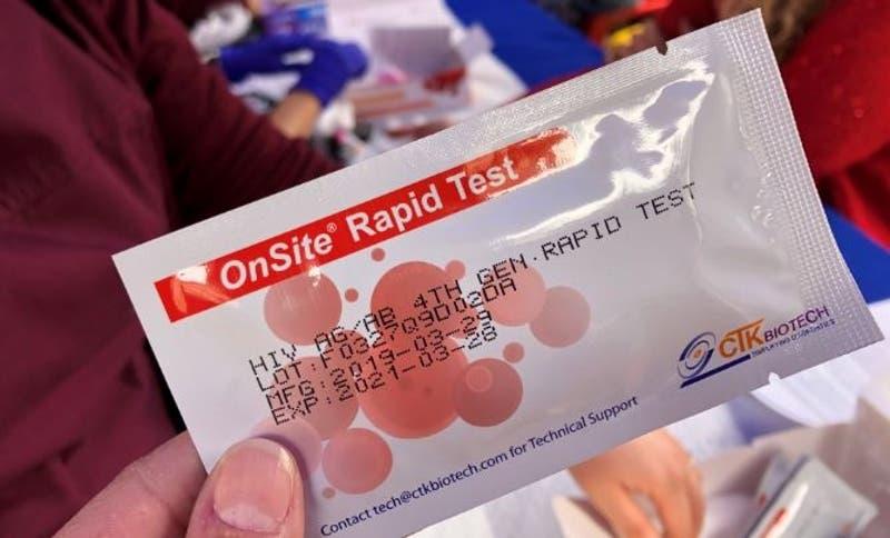Test rápido de detección del VIH