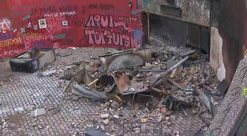 El día después: Así amaneció el centro de Santiago tras disturbios