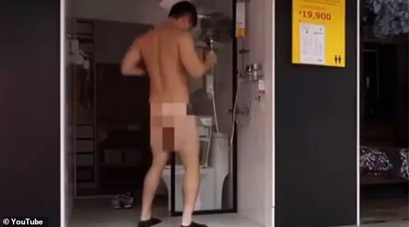 Youtuber es arrestado tras filmarse duchándose desnudo en IKEA