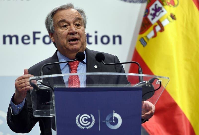 """Jefe de la ONU dice estar """"decepcionado"""" por la COP25 y lamenta la """"oportunidad perdida"""""""
