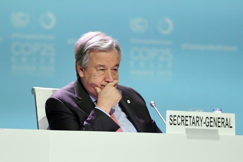 """Jefe de ONU dice estar """"decepcionado"""" por la COP25 y lamenta la """"oportunidad perdida"""""""