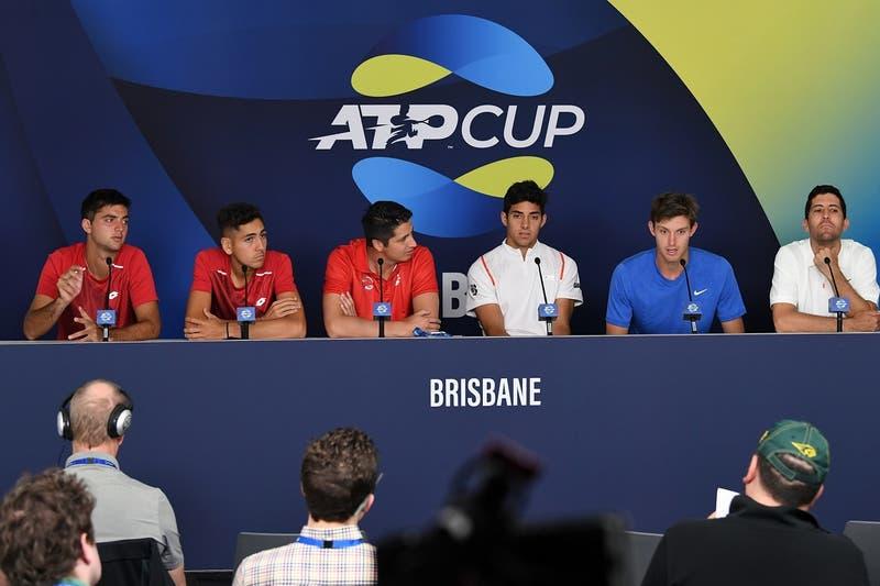 Equipo chileno en la ATP Cup Australia 2020