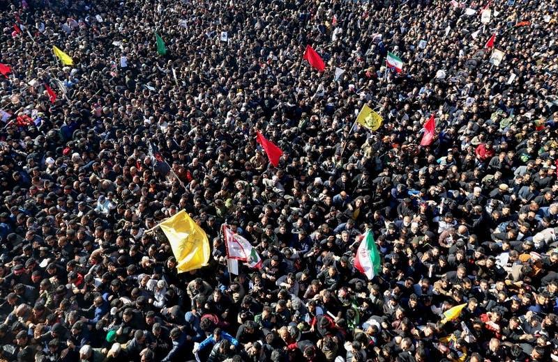 Más de 30 muertos deja una estampida durante funeral de Soleimani en Irán