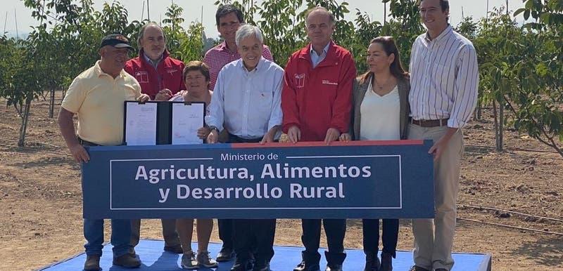 Piñera firma proyecto que crea ministerio de Agricultura, Alimentos y Desarrollo Rural