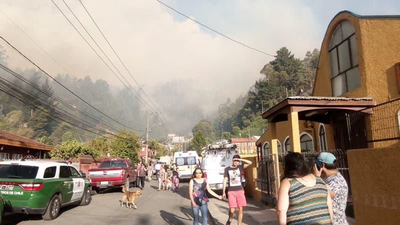 Incendio forestal en Chiguayante obliga a acción aérea y terrestre de Conaf
