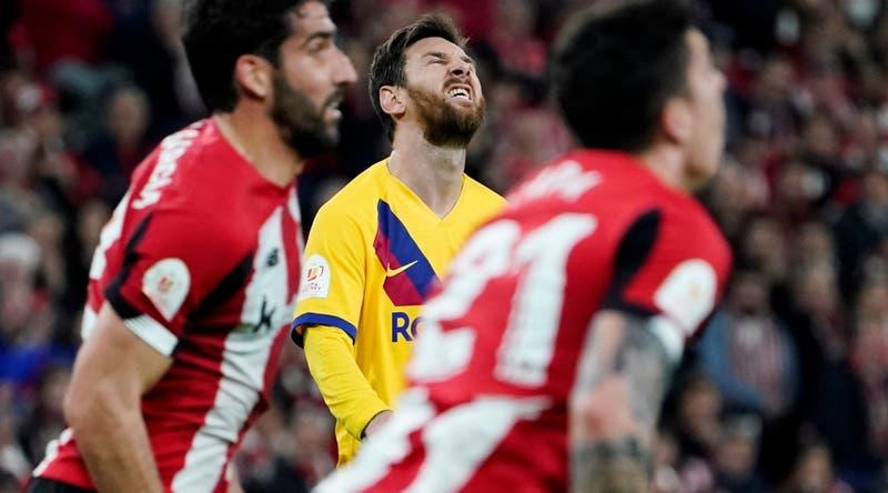 Con Vidal en la banca Barcelona cae en los descuentos ante el Athletic y dice adiós a Copa del Rey