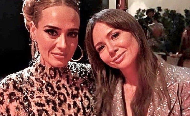 Adele reapareció en fiesta posterior a los Oscar presumiendo su nueva figura en un ajustado vestido