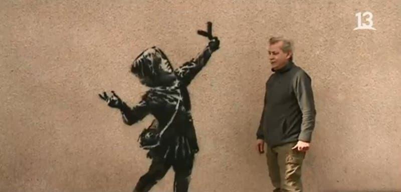 [VIDEO] Famoso artista urbano intervino en calles de Inglaterra en San Valentín