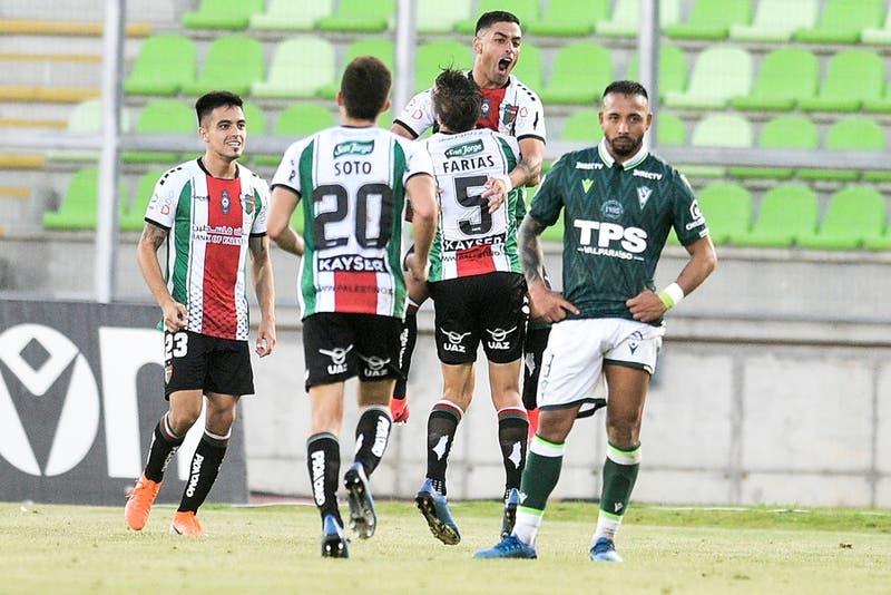 Palestino vence a Santiago Wanderers en la agonía y hunde a los caturros en la tabla de posiciones