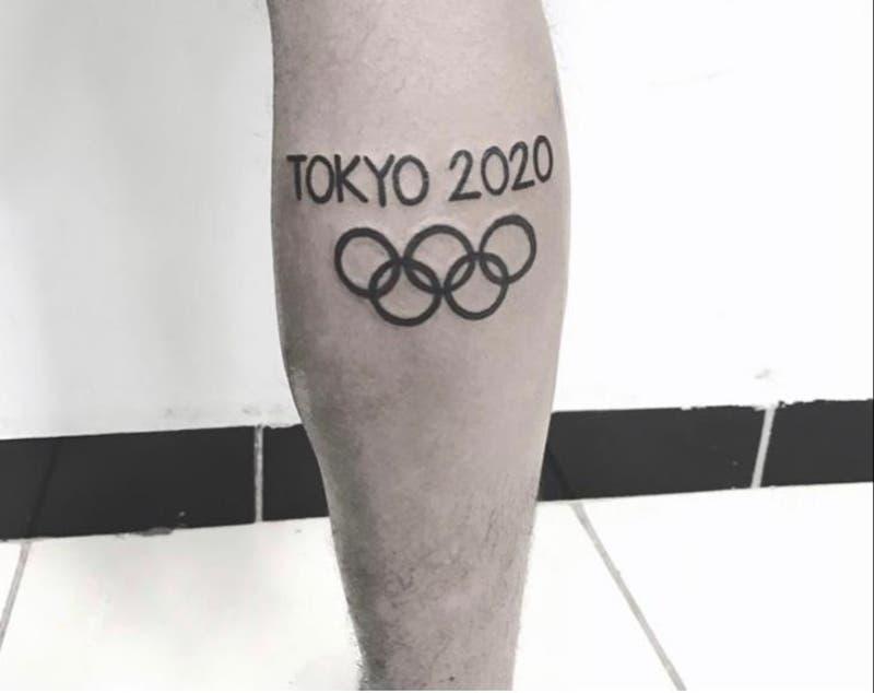 Atleta clasificado a los JJOO pide ayuda para modificar su tatuaje dedicado a Tokio 2020