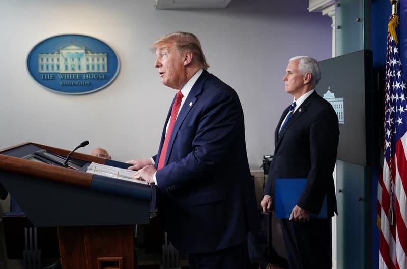 """Trump dice que quiere avanzar para """"reabrir"""" Estados Unidos"""