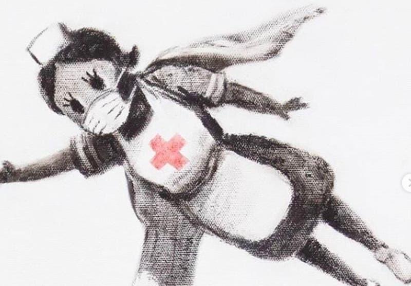 [FOTOS] Banksy rinde homenaje al personal sanitario británico por su lucha contra el COVID-19
