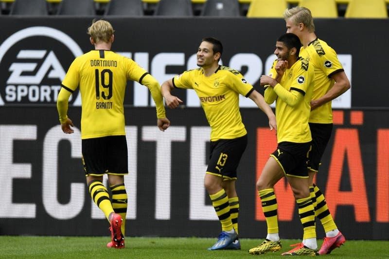 Distancia social en el marcador: Borussia Dortmund golea al Schalke 04 en regreso de la Bundesliga