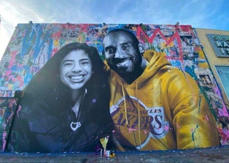 Esposa de Kobe Bryant muestra como murales en honor a él y su hija no son tocados en protestas